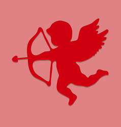 silhouette of cupid eps10 vector image