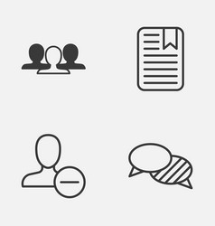 Social icons set collection of speaking note vector
