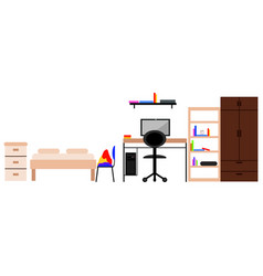 student dorm room vector image