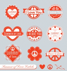 summer love labels vector image