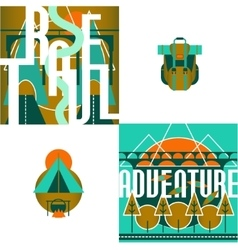 Travel and Adventure Logo and Infographic set with vector
