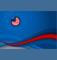 usa american flag background vector image vector image