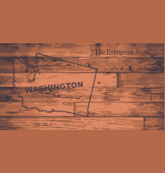 Washington map brand vector