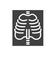 x-ray related icon vector image