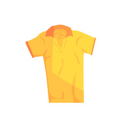 Yellow sport polo shirt vector