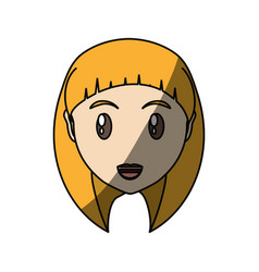 Young woman cartoon vector