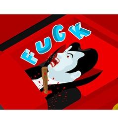 Death of Dracula Pierce heart of vampire wooden vector image vector image