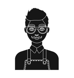 male hairdresserbarbershop single icon in black vector image vector image