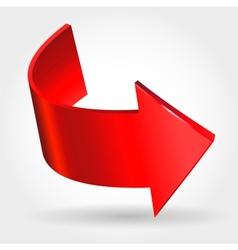Red arrow vector