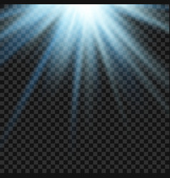 sun light lens blue flare template vector image vector image