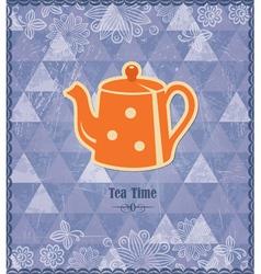 Tea time vintage pattern vector image vector image