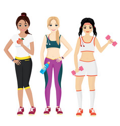 attractive young women in vector image