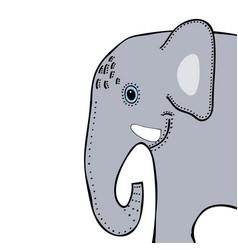 elephant cute funny cartoon head vector image vector image