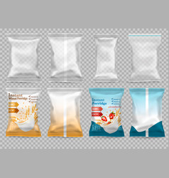 polypropylene plastic packaging - instant vector image