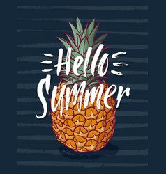 background with tropical pineapple vector image vector image