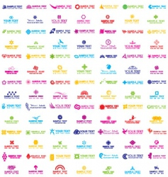 colorful logos vector image vector image