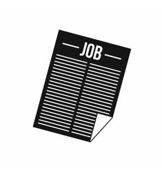 Newspaper with the headline Job icon vector image