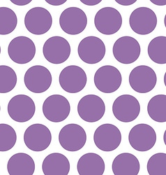Polka dot background seamless pattern Purple dot vector image