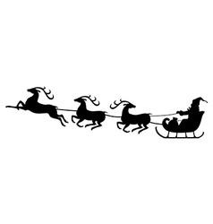 santa deer3 vector image vector image