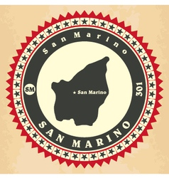Vintage label-sticker cards of San Marino vector image vector image