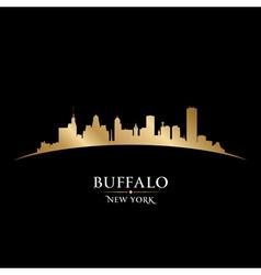 Buffalo New York city skyline silhouette vector image vector image
