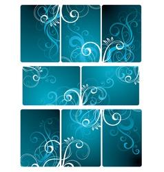 floral tile background vector image
