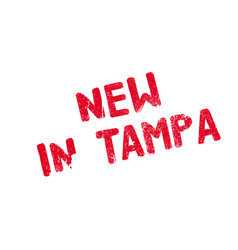 new in tampa rubber stamp vector image vector image