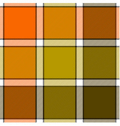 orange khaki marsh color check plaid seamless vector image vector image