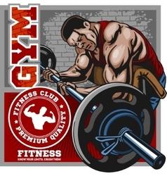 Sport club Bodybuilding logos emblems design vector image
