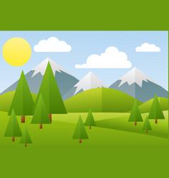 spring landscape mountain vector image