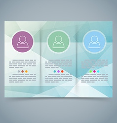 Tri-fold modern brochure booklet template vector