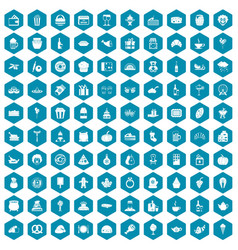 100 bounty icons sapphirine violet vector