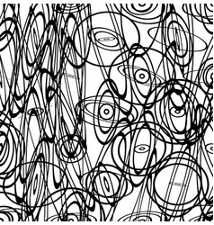 Abstract image with squiggly squiggle lines vector