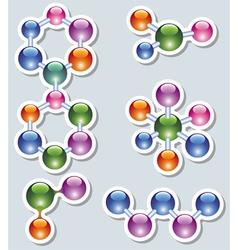 abstract molecule vector image vector image