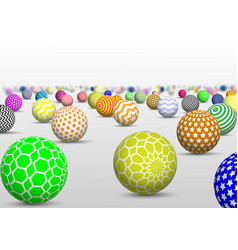 abstract multicolor balls background vector image