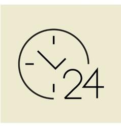 Around the clock icon vector