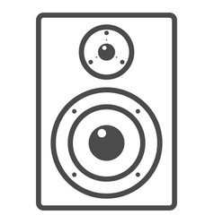 Audio monitor line icon music and instrument vector