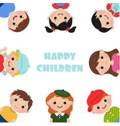 blank poster with kids blank poster with kids vector image