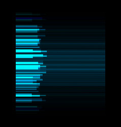 Blue frequency bar overlap in dark background vector