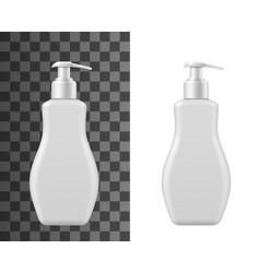 bottle for liquid soap isolated mockup vector image