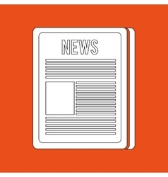 breaking news design vector image