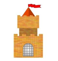 Brick Castle vector image