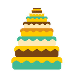 cake big great pie food birthday festive meat vector image