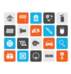 Car part and services icons 2 vector