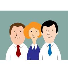 Cartoon business team vector image
