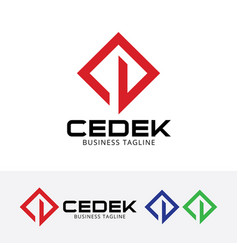 cedek construction logo design vector image