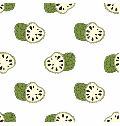 cherimoya exotic fruit seamless vector image