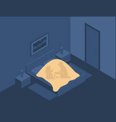 children play games under covers at night vector image