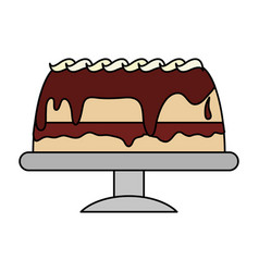 Chocolate cake pastry icon image pastry icon image vector