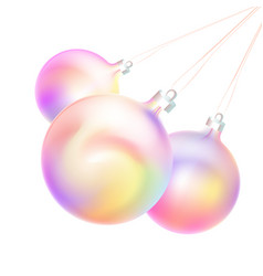 christmas baubles or balls for christmas fir tree vector image